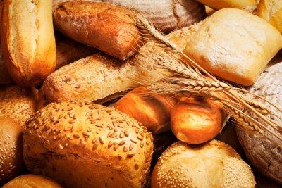 Fototapeta Asortyment upieczony chleb z pszenicy