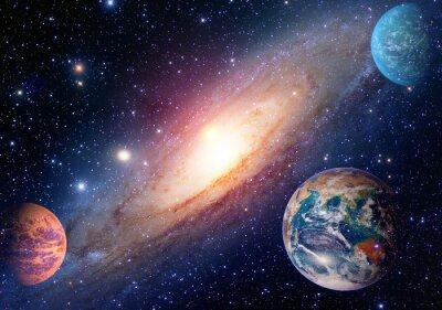 Fototapeta Astrologia astronomia kosmos ziemia mars układu solarnego planeta Droga Mleczna. Elementy tego zdjęcia dostarczone przez NASA.