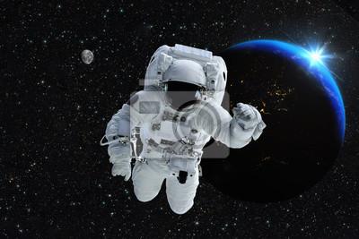 Astronauta Kosmonautą Ziemia Planeta Zewnętrzna Przestrzeń Ludzi