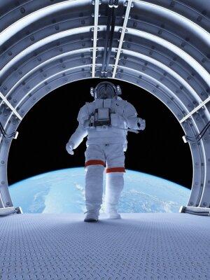 Fototapeta Astronauta w tunelach