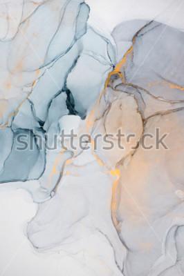 Fototapeta Atrament, farba, streszczenie. Porównanie obrazu. Kolorowy obraz abstrakcyjne tło. Wysoko-teksturowana farba olejna. Wysoka jakość detale.