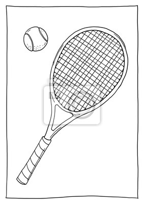 Ausmalbild Tenis Fototapeta Fototapety Rakieta Tenisowa Pilka