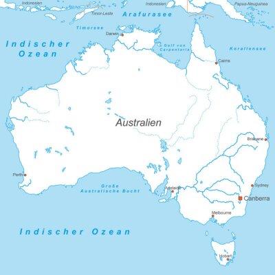 Fototapeta Australia w Weiss (beschriftet) - Vektor