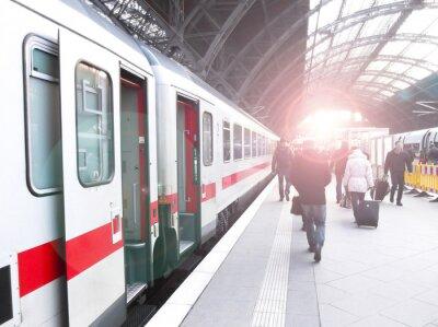 Fototapeta Bahnhofsverkehr