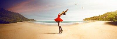 Fototapeta Baletnica na plaży
