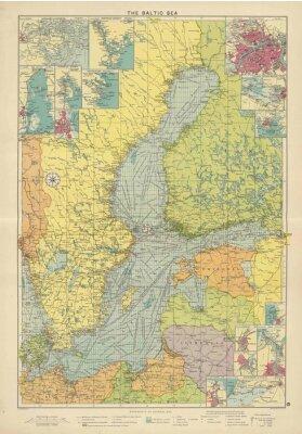 Fototapeta Bałtyk rocznika mapę