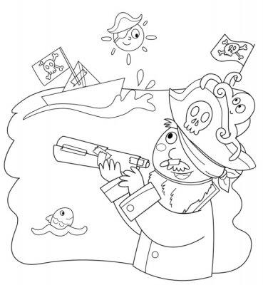 Fototapeta Bambino vestito bo pirata