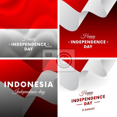 Fototapeta Baner Lub Plakat Z Okazji święta Niepodległości W Indonezji