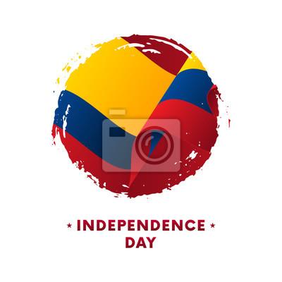 Fototapeta Baner Lub Plakat Z Okazji święta Niepodległości W Kolumbii Macha