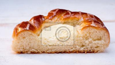 Fototapeta bap z serem w plasterkach