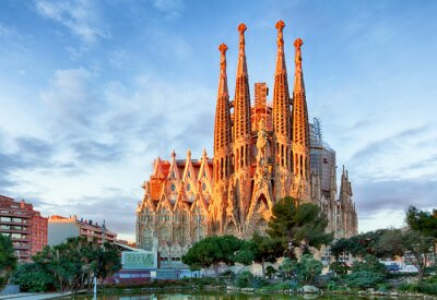 Fototapeta BARCELONA, Hiszpania - 10 lutego: La Sagrada Familia - Impress
