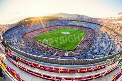 Fototapeta BARCELONA, HISZPANIA - 19 kwietnia: Stadion piłkarski Nou Camp w dniu 19 kwietnia 2017 w Barcelonie