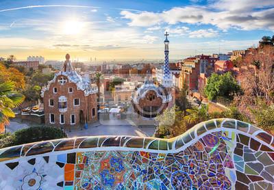 Fototapeta Barcelona - Park Guell, Hiszpania