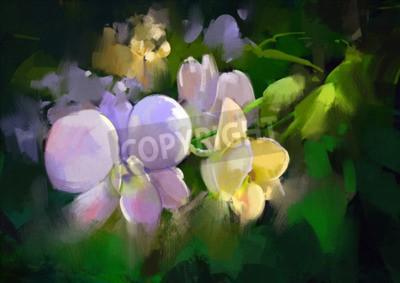 Fototapeta beautiful painting of orchid flowers