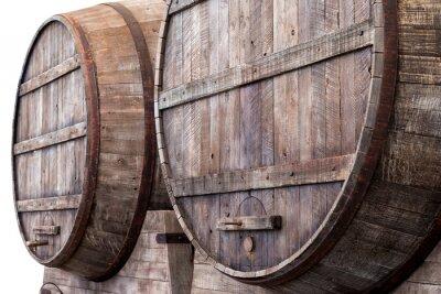 Fototapeta Beczki dębowe w winnicy, browaru i gorzelni