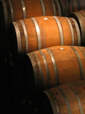 Fototapeta Beczki wina w piwnicy