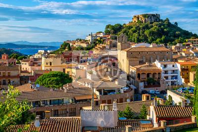 Fototapeta Begur Old Town and Castle, Costa Brava, Catalonia, Spain