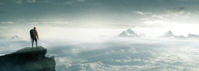 Fototapeta Bergsteiger - Gipfel - Freiheit