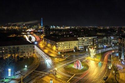 Fototapeta Berlin życie miasta w nocy
