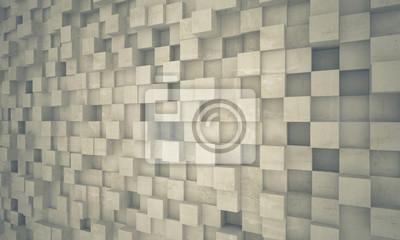 betonowe ściany geometryczne