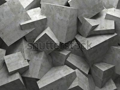 Fototapeta betonowe tło sześcian ściany 3d