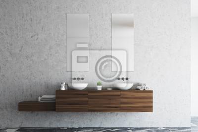 Betonowy Podwójny Zlew łazienkowy Fototapeta Fototapety Apartament