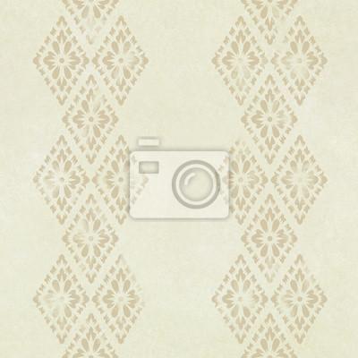 Fototapeta bez szwu abstrakcyjna brązowy kwiatowy wzór na tekstury papieru, tajski st
