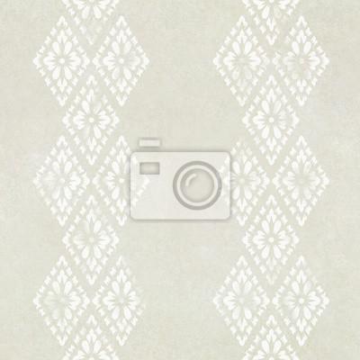 Fototapeta bez szwu abstrakcyjne biały kwiat wzór na tekstury papieru, tajski st