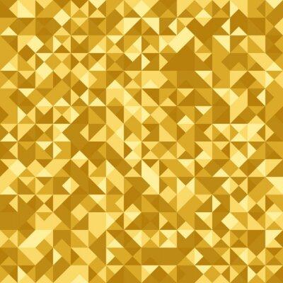 Fototapeta Bez szwu deseń abstrakcyjny: złoty heraldyczny tła z efektem holograficznym. Folia trójkąta.