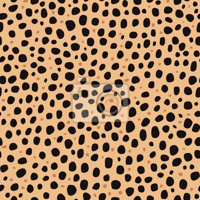f23f9099d92cf1 Fototapeta Bez szwu deseń. Imitacyjny nadruk skóry gepardy. Czarne i  brązowe plamy na brązowym