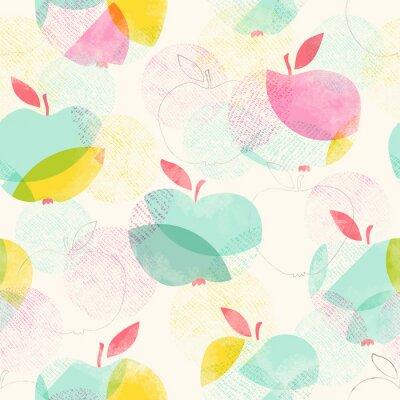Fototapeta Bez szwu deseń z jabłek