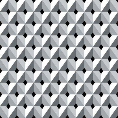 Fototapeta Bez szwu geometryczny wzór 3d diamentów.