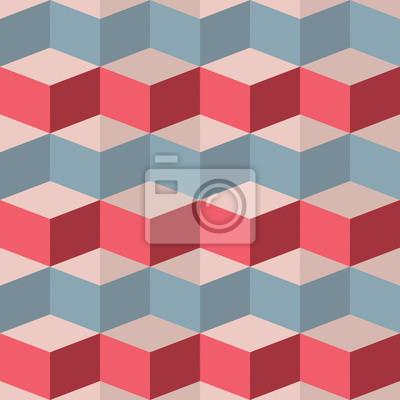 Fototapeta Bezproblemowa geometryczny wzór malinowy