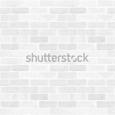 Fototapeta Bezszwowe ceglany mur biały szary kolor wzór tekstury tło