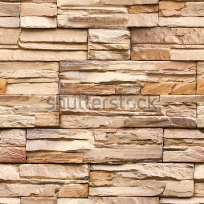 Fototapeta bezszwowe kamienne ściany tekstury i tła