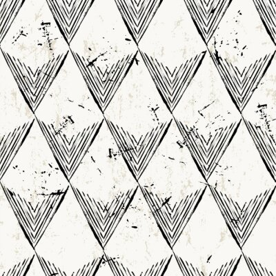Fototapeta bezszwowe tło wzór z trójkątów, udarów i splashe