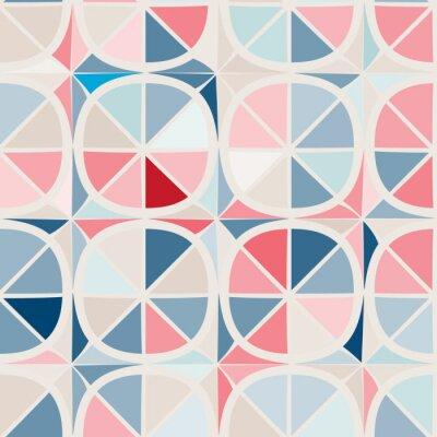 Fototapeta bezszwowe tło z abstrakcyjnych kształtów geometrycznych
