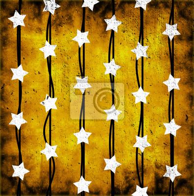 Fototapeta białe gwiazdki