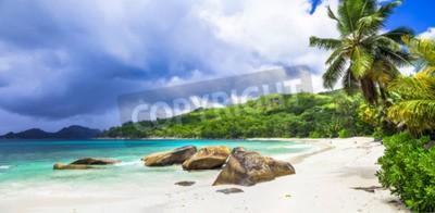 Fototapeta Białe plaże na Seszelach - tropikalny raj