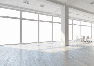 Fototapeta Białe wnętrza biurowe