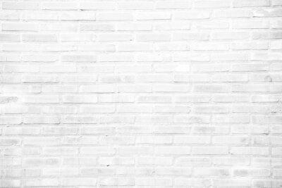 Fototapeta Biały grunge ceglany mur tekstury tła