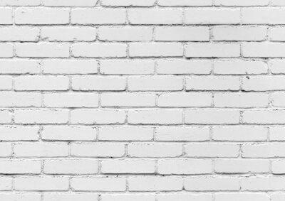Fototapeta Biały mur z cegły, bezszwowych tekstur w tle