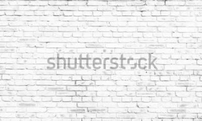 Fototapeta biały mur z cegły w wiejskim pokoju,