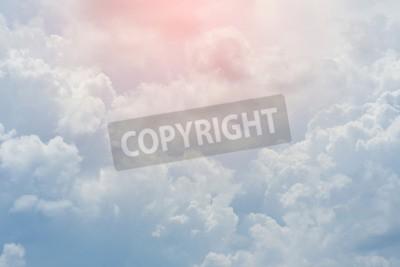 Fototapeta biały obłok okrył niebo, zachmurzenie dramatyczne niebo, abstrakcyjne tło nieba
