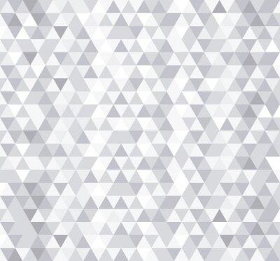 Fototapeta Biały trójkąt płytki bez szwu deseń, tło wektor.