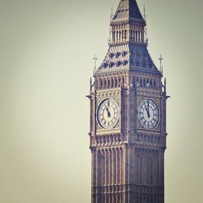 Fototapeta Big Ben w Westminster w Londynie, z Instagram efekt filtra