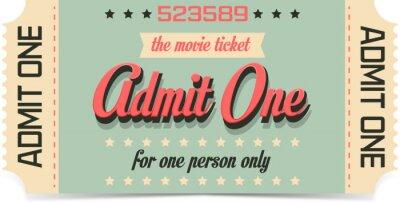 Fototapeta Bilet na film