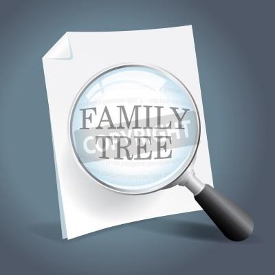 629f57993605 Fototapeta Biorąc się bliżej przyjrzeć i rodzinnych drzew genealogicznych