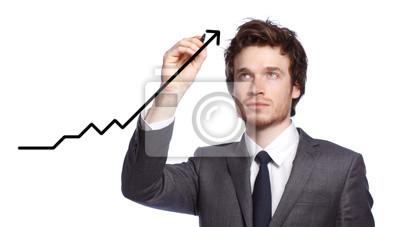 Fototapeta Biznesmen rysowanie wykresu