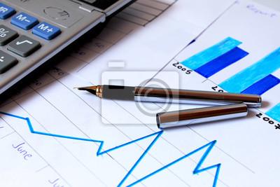 Fototapeta biznesowych wykres pokazujący wzrost finansowy